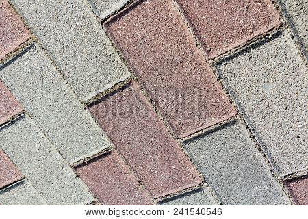 Colorful Paving Slab, Sidewalk Tile Background Road Texture Mosaic