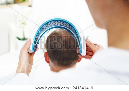 Dermatologist. Treatment Against Hair Loss. Care Treatment For Strengthening Hair Onions .