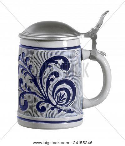 Blue Ornamented Stein
