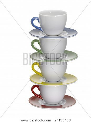 Colored Porcelain Cups