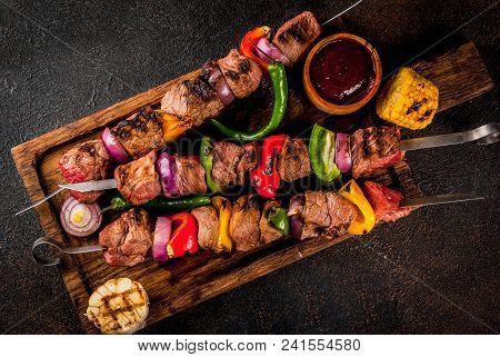 Veggie And Beef Shish Kebab