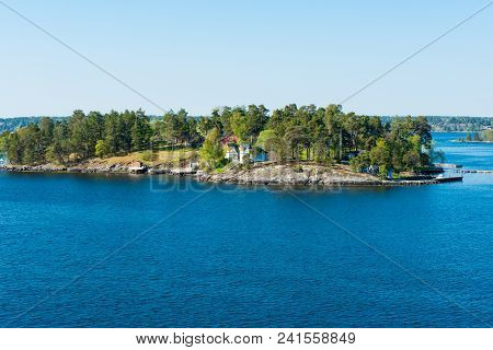 Spring Landscape Of The Scandinavian Sea Fjords