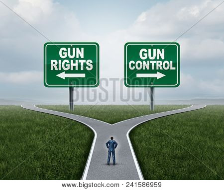 Gun Control Or Guns Control And Second Amendment United States Debate As A Government Firearms Feder