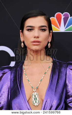 Dua Lipa at the 2018 Billboard Music Awards held at the MGM Grand Garden Arena in Las Vegas, USA on May 20, 2018.