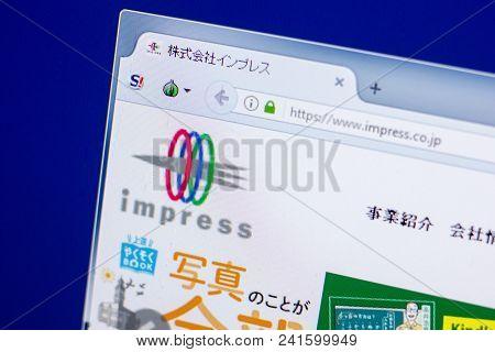 Ryazan, Russia - May 20, 2018: Homepage Of Impress Website On The Display Of Pc, Url - Impress.co.jp