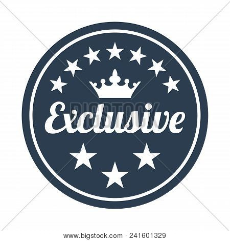 Exclusive Quality Label On White Background. Vector Illustration