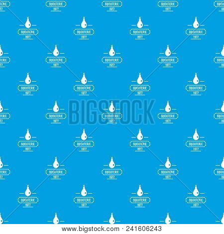 Bijouterie Pattern Vector Seamless Blue Repeat For Any Use