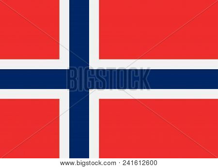 Norway Flag In Vector, Correct Proportions And Colors, High Resolution