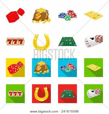 Excitement, Recreation, Hobby And Other  Icon In Cartoon, Flat Style., Casino, Entertainment, Instit