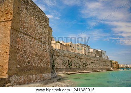 View Of Small Town Otranto, Province Of Lecce In The Salento Peninsula, Puglia, Italy