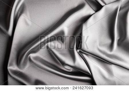 Shiny Silver Satin
