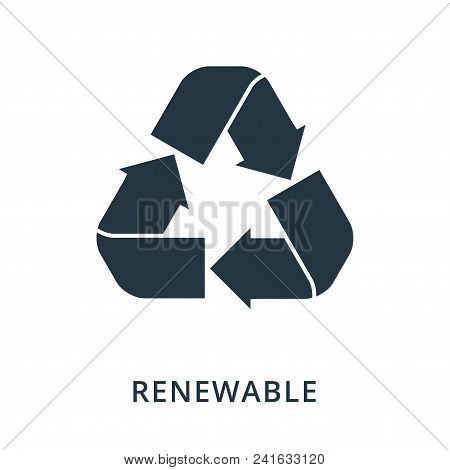 Renewable Icon. Flat Style Icon Design. Ui. Illustration Of Renewable Icon. Pictogram Isolated On Wh
