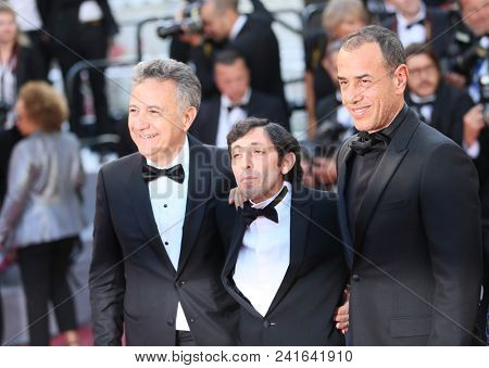 Francesco Acquaroli,  Marcello Fonte, Matteo Garrone  attend Closing Ceremony during the 71st  Cannes Film Festival at Palais des Festivals on May 19, 2018 in Cannes, France.
