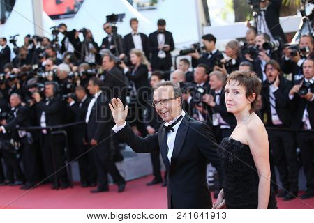 Kessen Sissako and director Abderrahmane Sissako attend Closing Ceremony during the 71st  Cannes Film Festival at Palais des Festivals on May 19, 2018 in Cannes, France.