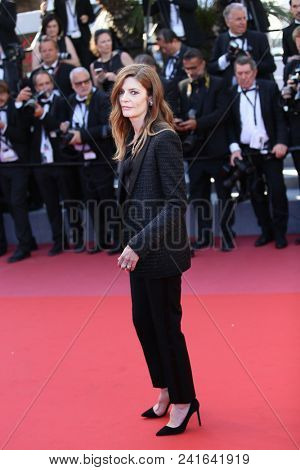 Chiara Mastroianni attends Closing Ceremony during the 71st  Cannes Film Festival at Palais des Festivals on May 19, 2018 in Cannes, France.