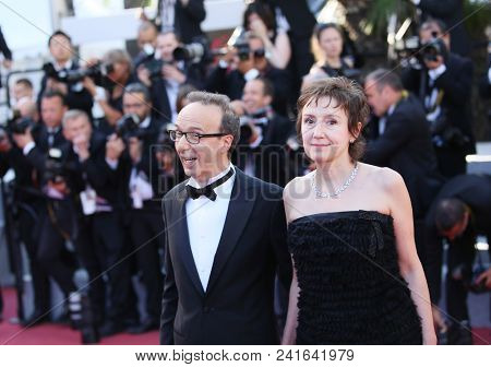 Roberto Benigni and Nicoletta Braschi attend the Closing Ceremony during the 71st  Cannes Film Festival at Palais des Festivals on May 19, 2018 in Cannes, France.