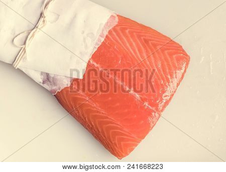 Fresh raw salmon food photography recipe idea
