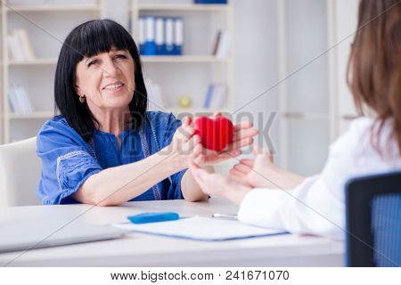 Senior patient visiting doctor for regular check-up