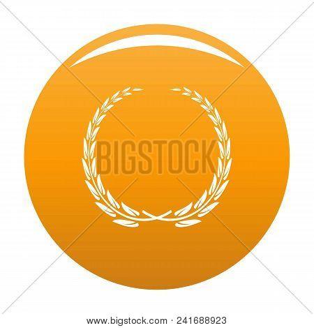 Glory Wreath Icon. Simple Illustration Of Glory Wreath Vector Icon For Any Design Orange