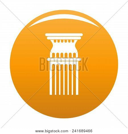 Column Icon. Simple Illustration Of Column Vector Icon For Any Design Orange
