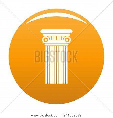 Architectural Column Icon. Simple Illustration Of Architectural Columnvector Icon For Any Design Ora