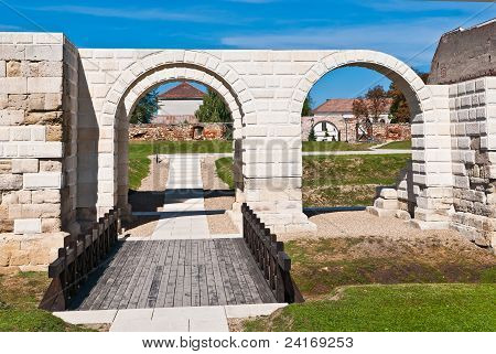 Ancient Roman Gate With Arc