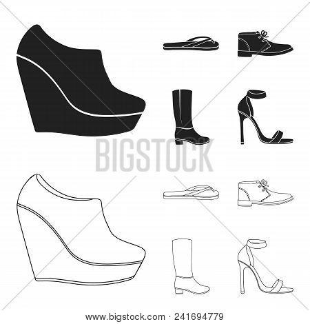 Autumn Black Shoes On A High Platform, Flip-flops Green For Relaxation, Sandy Men Autumn Shoes, High