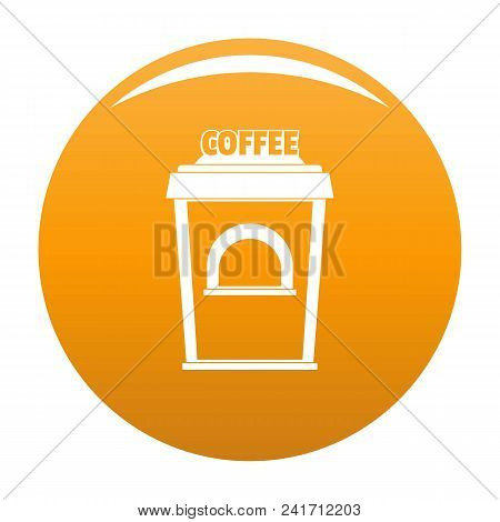 Coffee Selling Icon. Simple Illustration Of Coffee Selling Vector Icon For Any Design Orange
