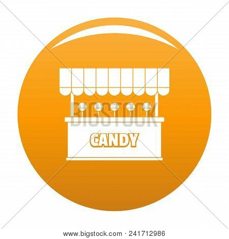 Candy Selling Icon. Simple Illustration Of Candy Selling Vector Icon For Any Design Orange