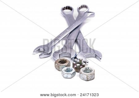 Wrenches Of Various Sizes