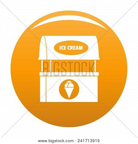 Ice Creme Selling Icon. Simple Illustration Of Ice Creme Selling Vector Icon For Any Design Orange