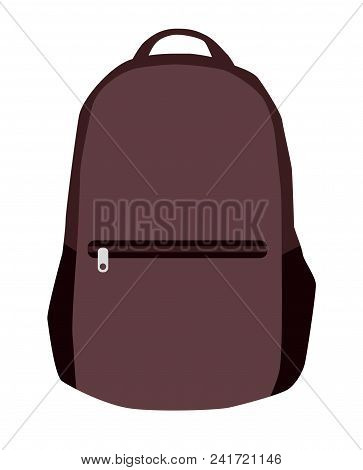 Vector Colorful School Backpacks. Backpacks For Schoolchildren, Students, Travellers And Tourists. B