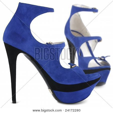 Blue Summer Female Shoes