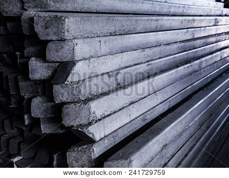 Front And Side View Of Concrete Pole Pile A