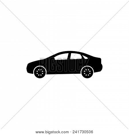 Sedan Car Icon Vector In Modern Flat Style For Web, Graphic And Mobile Design. Sedan Car Icon Vector
