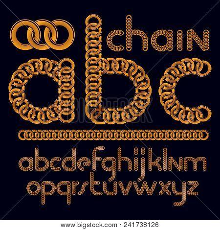 Vector Script, Modern Business Alphabet Letters, Abc Set. Lower Case Decorative Font Created Using C