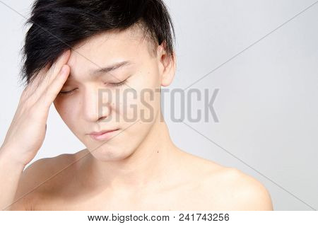 Young Guy And Problems. Headache. Migraine And Headache, Health Problems.