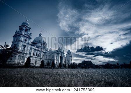 Night Image Of Victoria Memorial, Kolkata