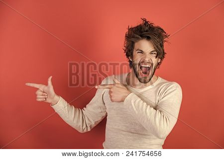 Morning Wake Up, Everyday Life. Man With Disheveled Hair In Underwear. Barber And Hairdresser, Male
