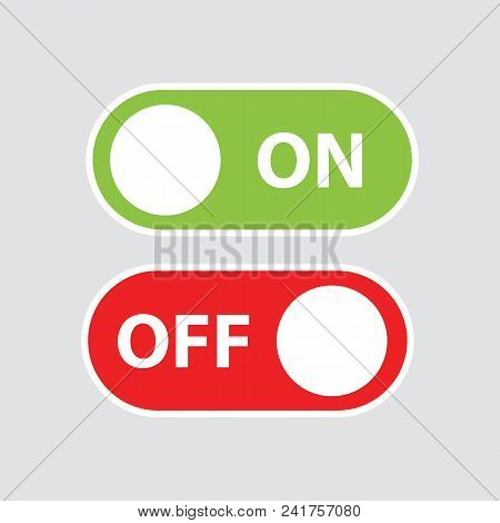 Toggle Switch Icons. Switch Buttons. On And Off Position. Vector Stock.