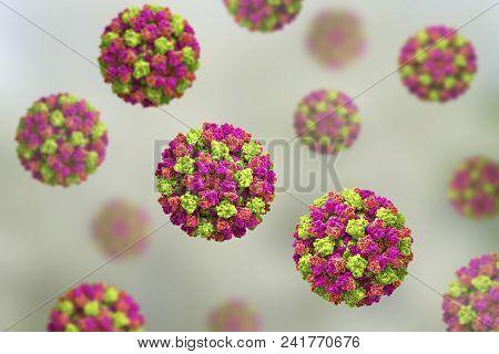 Norovirus, Winter Vomiting Bug, Rna Virus From Caliciviridae Family, Causative Agent Of Gastroenteri