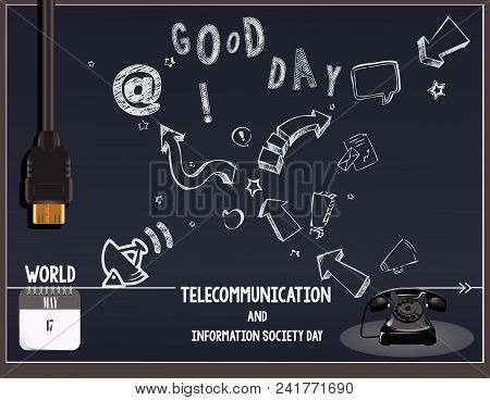 Calendar Holiday Of May - Post Card World Telecommunication And Information Society Day