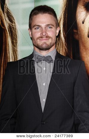 LOS ANGELES - OCT 6: Stephen Amell at HBO's 'Enlightened' Los Angeles premiere at Paramount Theater on the Paramount Studios lot on October 6, 2011 in Los Angeles, California.