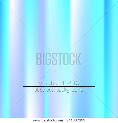 Foil Hologram Modern Deep Background. Colorful Rainbow Gradient.  Trendy Creative Vector. Intense Bl