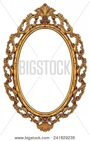 Vintage frame isolated on white background, including clipping path