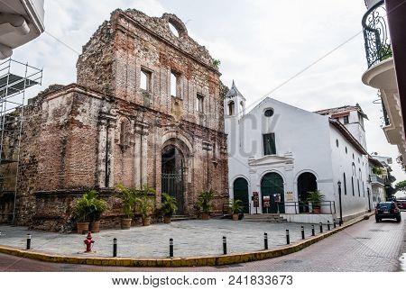 Old Building Facade In Casco Viejo In Panama City - Historical Architecture