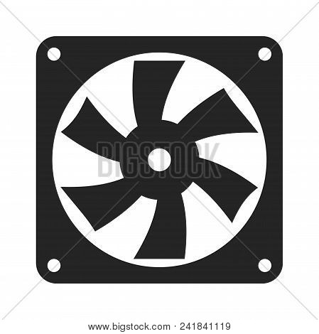 Computer Fan Icon Simple Vector Sign And Modern Symbol. Computer Fan Vector Icon Illustration, Edita
