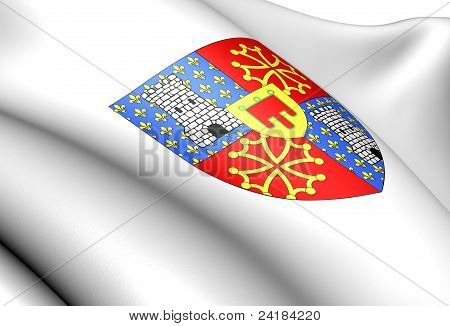 La Tour d'Auvergne coat of arms France. Close up. poster