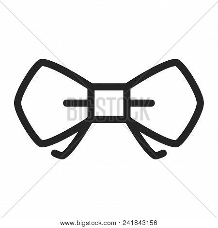 Bow Tie Icon Simple Vector Sign And Modern Symbol. Bow Tie Vector Icon Illustration, Editable Stroke