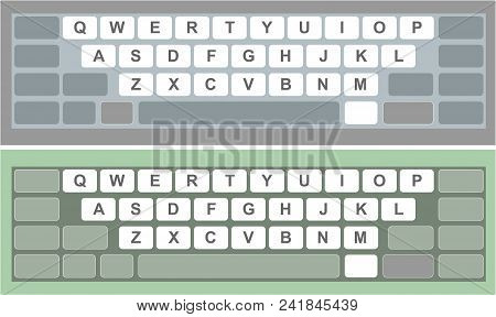 Two Colorful Electronics Keyboard For Phone, Laptop, For Tablet